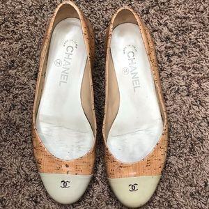 Chanel Cork Ballet Flats